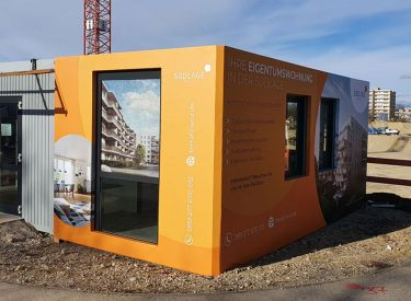 "Container- Showroomgestaltung 2020 ""Amsterdamer Rahmen"""